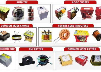 AUTO TRANSFORMER | AC/DC CHOKES | COMMON MODE CHOKES | FILTERS